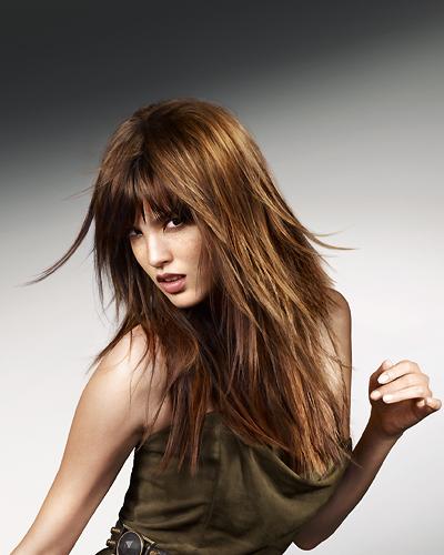 Fransige frisuren lang